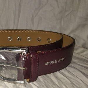 NWT Michael Kors Dark Purple Belt